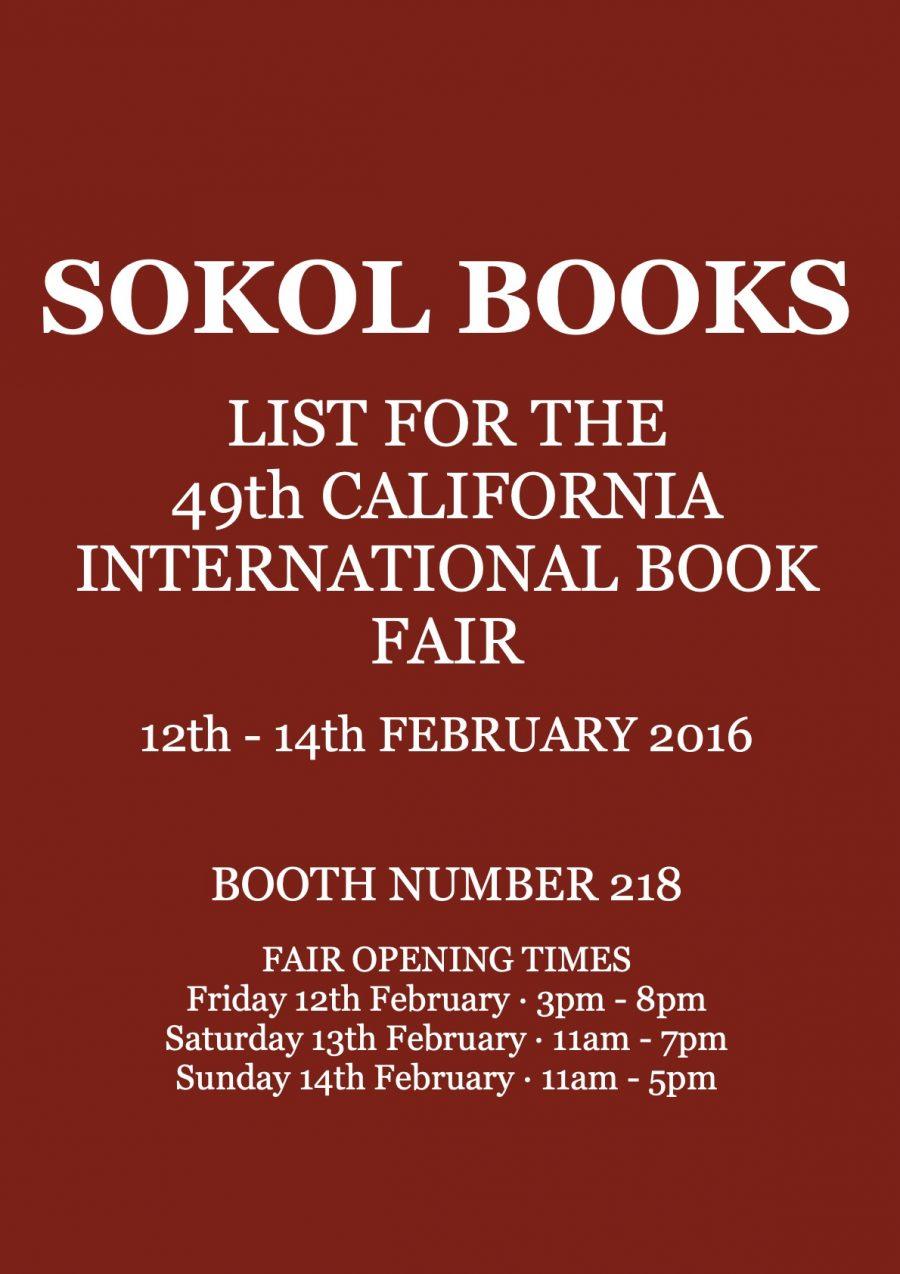 California International Antiquarian Book Fair 2016