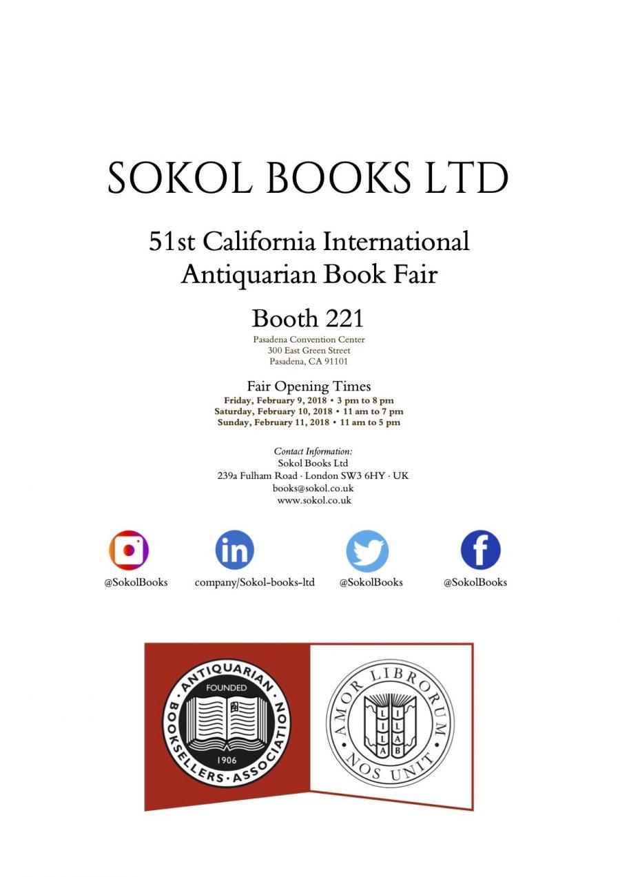 California International Antiquarian Book Fair 2018