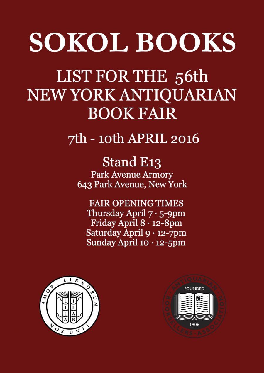 New York Antiquarian Book Fair 2016
