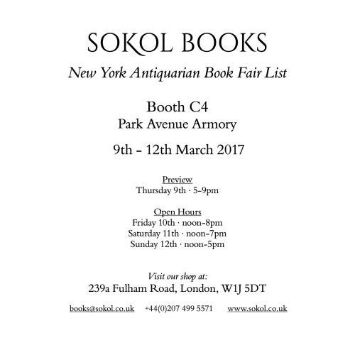 New York Antiquarian Book Fair 2017