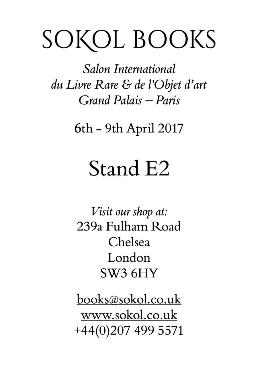 Paris International Rare Book & Fine Art Fair 2017